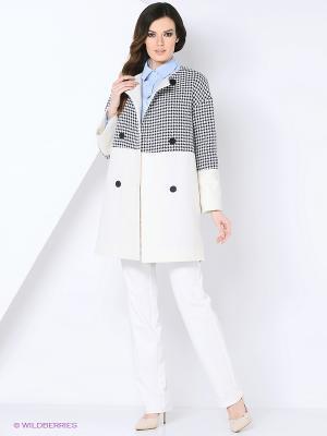 Пальто MARI VERA. Цвет: белый, черный