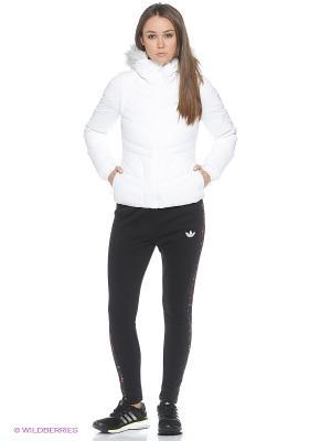 Куртка W Strch Dwn Jkt Adidas. Цвет: белый, черный