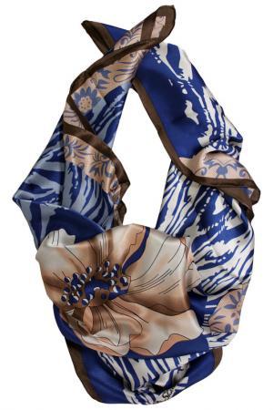 Шелковый платок SHALBE. Цвет: синий