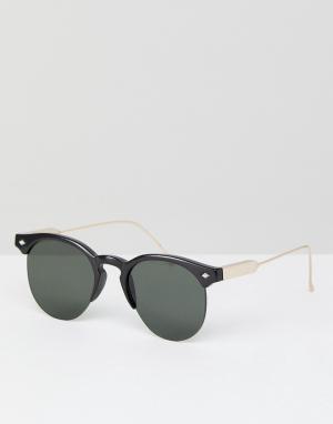 Spitfire Черные солнцезащитные очки в стиле ретро Astro. Цвет: черный