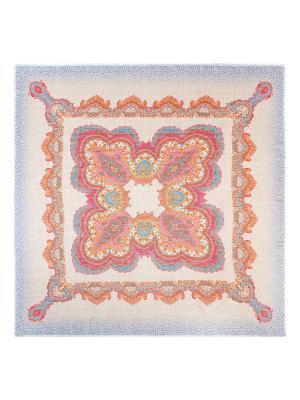 Платок Eleganzza. Цвет: бирюзовый, бежевый, рыжий