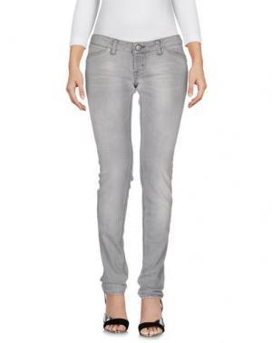 Джинсовые брюки 2W2M. Цвет: светло-серый