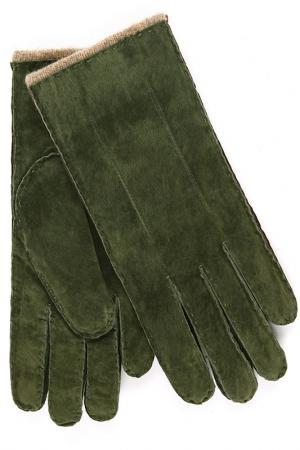 Перчатки Dali Exclusive. Цвет: темно-зеленый, коричневый