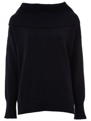 Кашемировый свитер с широким воротником Maison Ullens. Цвет: синий