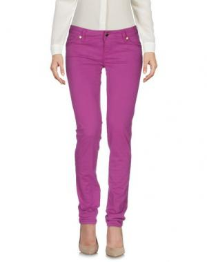 Повседневные брюки JFOUR. Цвет: розовато-лиловый