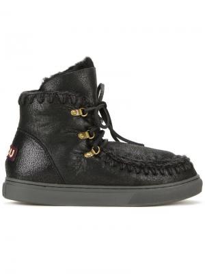 Ботинки на шнуровке Eskimo Mou. Цвет: чёрный