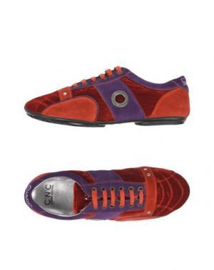 Низкие кеды и кроссовки C'N'C' COSTUME NATIONAL. Цвет: кирпично-красный