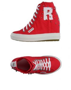 Высокие кеды и кроссовки RUCO LINE. Цвет: красный