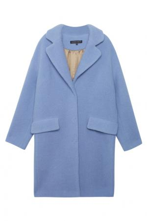 Шерстяное пальто Alexander Terekhov. Цвет: голубой