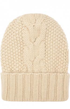 Шапка фактурной вязки из кашемира Kashja` Cashmere. Цвет: светло-бежевый