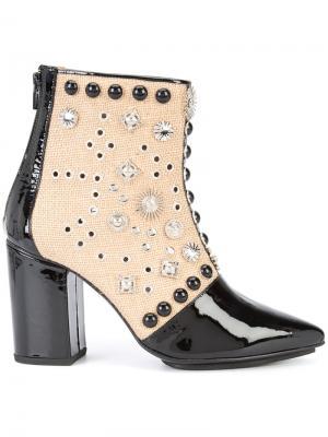 Ботинки по щиколотку с заклепками Toga Pulla. Цвет: чёрный