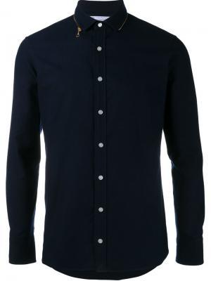 Рубашка с воротником на молнии Kolor. Цвет: синий