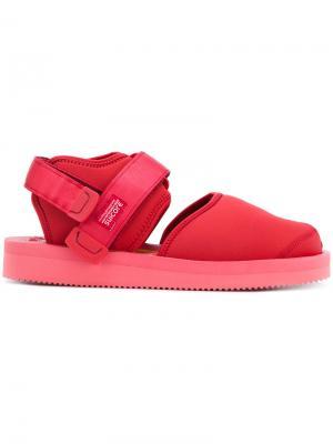 Closed toe sandals Suicoke. Цвет: красный