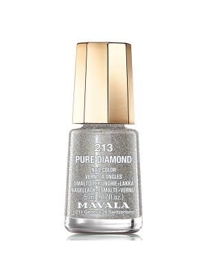 Лак для ногтей тон 213 Pure Diamond Mavala. Цвет: серебристый