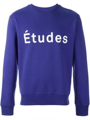 Толстовка с принтом логотипа Études. Цвет: синий