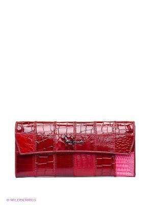 Кошелек Malgrado. Цвет: темно-красный, бордовый, розовый