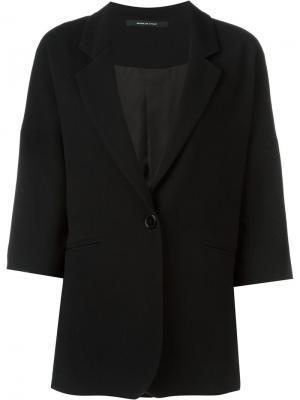 Пиджак с рукавами три четверти Tagliatore. Цвет: чёрный