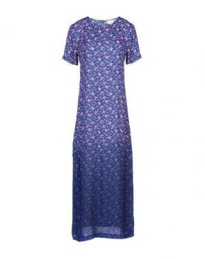 Длинное платье BAND OF OUTSIDERS. Цвет: синий