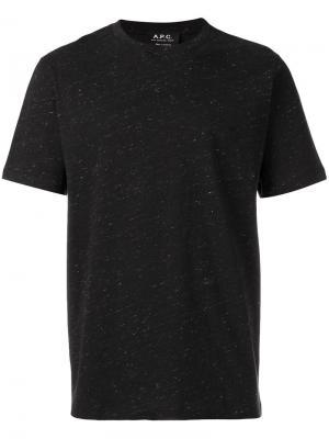 Базовая футболка A.P.C.. Цвет: чёрный