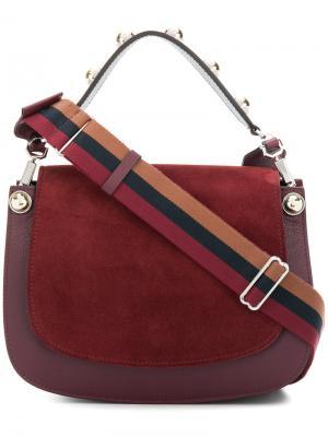 Панельная сумка на плечо с откидным клапаном Carven. Цвет: красный