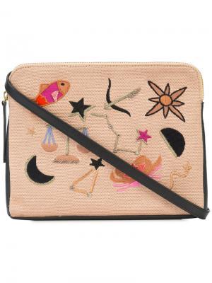 Клатч с вышивками Lizzie Fortunato Jewels. Цвет: чёрный