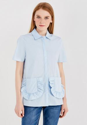 Блуза LOST INK. Цвет: голубой