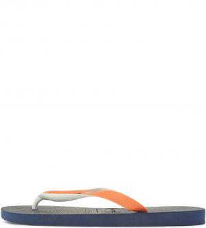 Сланцы Havaianas. Цвет: оранжевый, синий