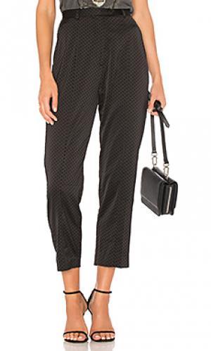 Зауженные брюки polka dot MINKPINK. Цвет: черный
