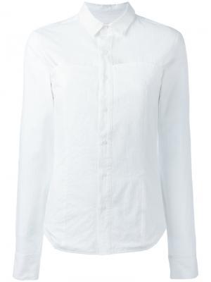 Приталенная рубашка A.F.Vandevorst. Цвет: белый