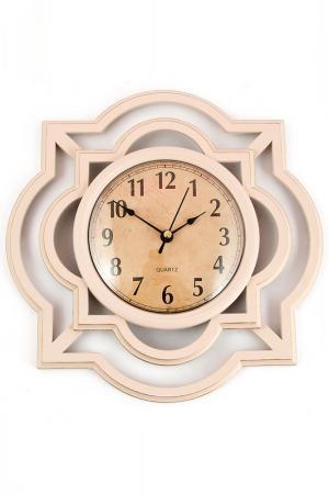 Часы настенные 25 см Русские подарки. Цвет: розовый, коричневый