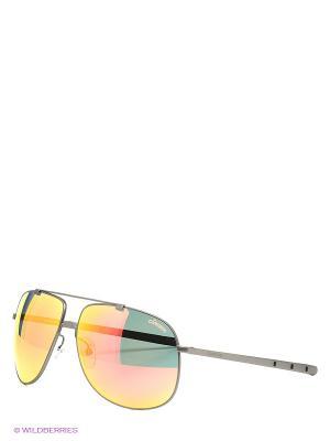 Солнцезащитные очки CARRERA. Цвет: серый