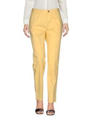 Повседневные брюки METRADAMO. Цвет: желтый