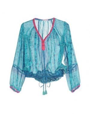 Блузка POUPETTE ST BARTH. Цвет: бирюзовый