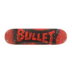 Дека для скейтборда  S6 Sprayed Red 31.6 x 8.0 (20.3 см) Bullet. Цвет: черный,красный