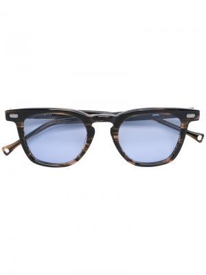 Солнцезащитные очки в квадратной оправе Oamc. Цвет: коричневый