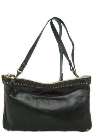 Кожаная сумка через плечо Campomaggi. Цвет: зеленый
