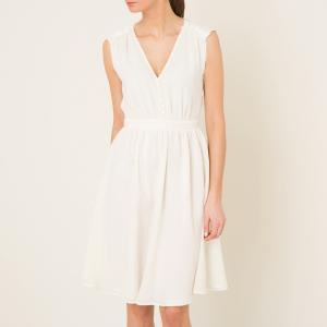 Платье ATSUMI SESSUN. Цвет: экрю