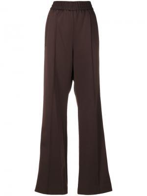 Атласные широкие брюки Marc Jacobs. Цвет: коричневый