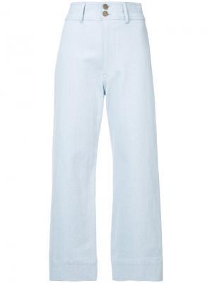 Джинсовые широкие брюки Merida Apiece Apart. Цвет: синий