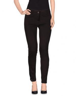 Повседневные брюки TRY ME. Цвет: темно-коричневый