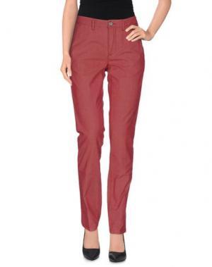 Повседневные брюки SIVIGLIA WHITE. Цвет: кирпично-красный