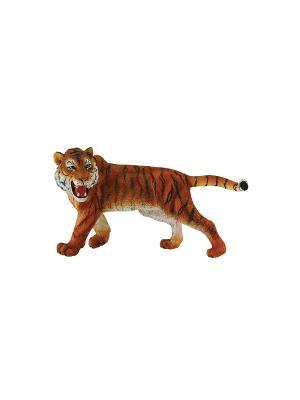 Сибирский тигр, XL  12 см Collecta. Цвет: рыжий