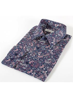 Рубашка Hans Grubber. Цвет: темно-синий