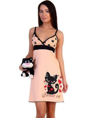 Ночная сорочка Натали. Цвет: розовый