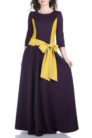 Платье Grey Cat. Цвет: фиолетово-желтый