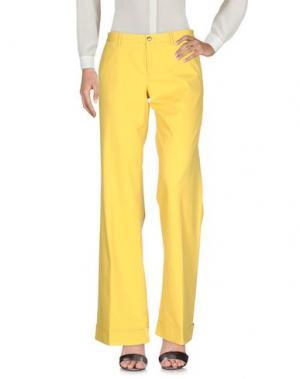 Повседневные брюки PT0W. Цвет: желтый