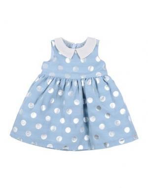 Платье HUCKLEBONES. Цвет: небесно-голубой