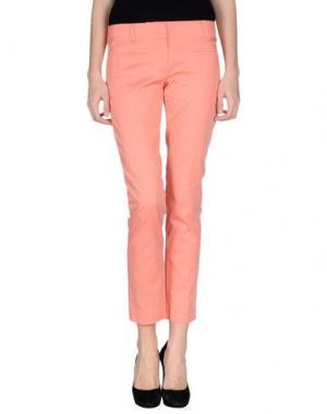 Повседневные брюки DIVINA. Цвет: лососево-розовый