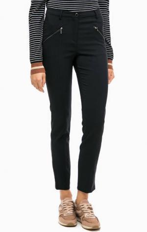 Черные зауженные брюки MORE &. Цвет: черный