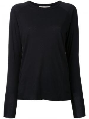 Однотонная блузка Nili Lotan. Цвет: чёрный